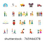 family and generation icon set | Shutterstock .eps vector #765466378