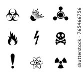 set of warning danger signs ...   Shutterstock .eps vector #765466756