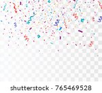 colorful bright confetti... | Shutterstock .eps vector #765469528