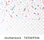 colorful bright confetti... | Shutterstock .eps vector #765469546