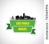 sao paulo skyline   brazil  ... | Shutterstock .eps vector #765469996