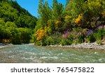 arrowtown new zealand  a... | Shutterstock . vector #765475822