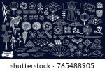 kabuki. japanese doodle set.... | Shutterstock .eps vector #765488905