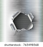ragged hole torn in ripped... | Shutterstock .eps vector #765498568