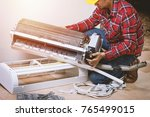 air conditioning service ... | Shutterstock . vector #765499015
