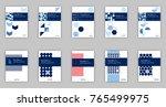 blue set of 10 a4 business book ...   Shutterstock .eps vector #765499975