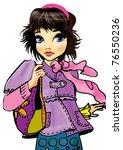 fashion girl   Shutterstock . vector #76550236