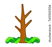 comic naked tree isolated on... | Shutterstock .eps vector #765503506