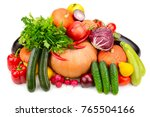 collection of useful vegetables ... | Shutterstock . vector #765504166
