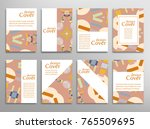 set of a4 cover  abstract...   Shutterstock .eps vector #765509695