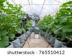 smart robot installed inside... | Shutterstock . vector #765510412