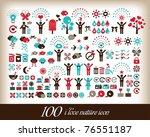 100 i love world icon | Shutterstock .eps vector #76551187