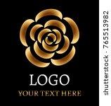 Rose Logo On Black Background