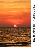 sunset  sun  sea | Shutterstock . vector #765519952