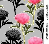 vector seamless pattern with... | Shutterstock .eps vector #765520336
