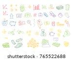 hand drawn vector illustrations ... | Shutterstock .eps vector #765522688