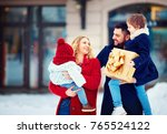 portrait of happy family at... | Shutterstock . vector #765524122