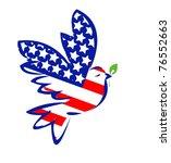 american peace bird | Shutterstock .eps vector #76552663