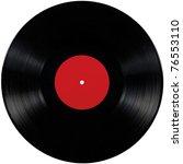 black vinyl record lp album... | Shutterstock . vector #76553110