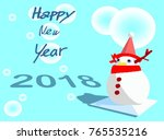 snowman santa deer christmas... | Shutterstock . vector #765535216