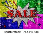 sell   old background colors  ... | Shutterstock . vector #765541738