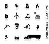 icons set power and energy | Shutterstock .eps vector #76554496