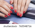 beautiful natural nails and... | Shutterstock . vector #765548716