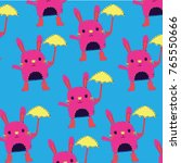 bunny vector pattern | Shutterstock .eps vector #765550666