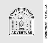 adventure camping outdoor... | Shutterstock .eps vector #765558265