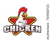chicken mascot for restaurant... | Shutterstock .eps vector #765560722