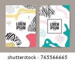 memphis style cover. background ... | Shutterstock .eps vector #765566665