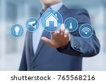smart home automation control... | Shutterstock . vector #765568216