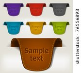 set of multicolored leather tag ... | Shutterstock .eps vector #76556893