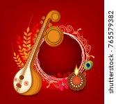indian festival vasant panchami ...   Shutterstock .eps vector #765579382