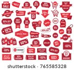 special offer 60 percent  sale... | Shutterstock .eps vector #765585328