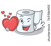 with heart tissue character... | Shutterstock .eps vector #765586405
