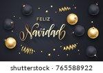 feliz navidad spanish merry... | Shutterstock .eps vector #765588922