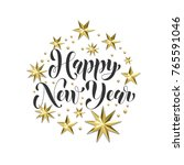 happy new year golden... | Shutterstock .eps vector #765591046