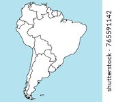 south america. mainland. vector ... | Shutterstock .eps vector #765591142