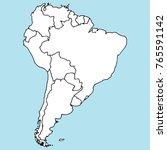 south america. mainland. vector ... | Shutterstock .eps vector #765591142