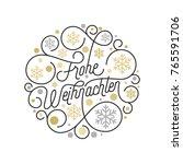 frohe weihnachten german merry... | Shutterstock .eps vector #765591706
