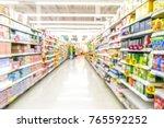 abstract blurred supermarket...   Shutterstock . vector #765592252