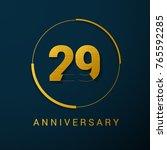 29 years anniversary vector... | Shutterstock .eps vector #765592285