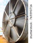 big industrial cooler fan or...   Shutterstock . vector #765593716