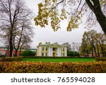 ancient buildings with autumn... | Shutterstock . vector #765594028