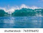 sea water background. big blue... | Shutterstock . vector #765596692