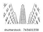 sketch illustration of midtown...   Shutterstock .eps vector #765601558