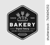 bakery logo vintage emblem... | Shutterstock .eps vector #765604252