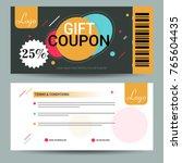 creative discount voucher  gift ...   Shutterstock .eps vector #765604435