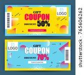 creative discount voucher  gift ... | Shutterstock .eps vector #765606262